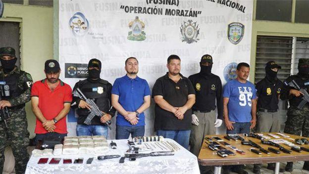 Meza y otros detenidos en 2018.