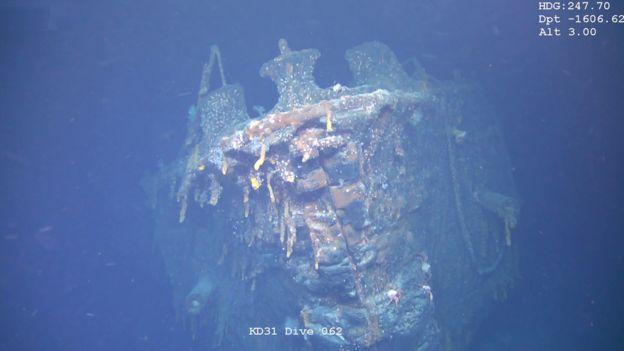 Imagen del naufragio del SMS Scharnhorst.
