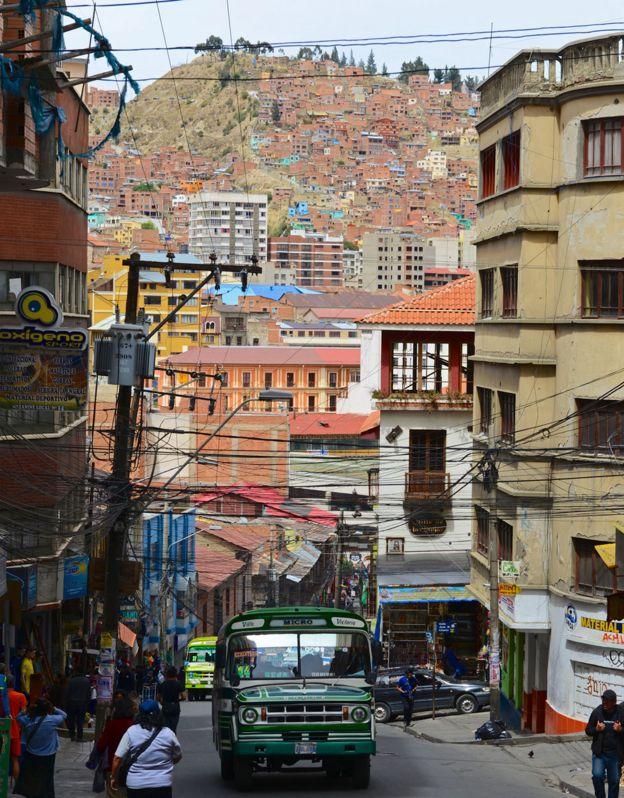 Centro de La Paz, Bolivia.