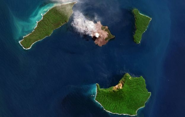The Indonesian volcano, Anak Krakatau