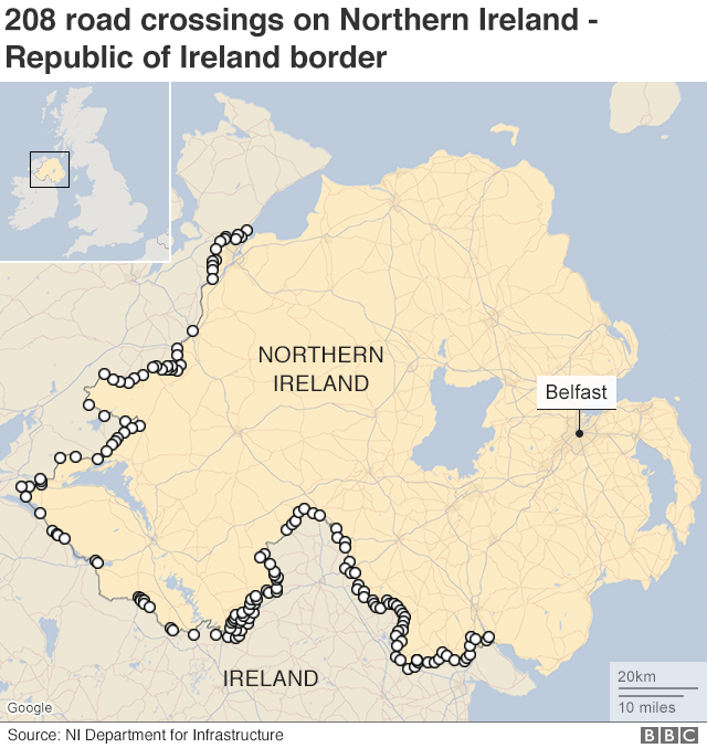 Brexit: Experts divided over Irish border plan - BBC News on old world map, bravo two zero map, editable map, southern map, london map, the charge of the light brigade map, battle of kosovo map, corregidor map, plain map, el camino del diablo map, un world map, meridian map, western map, icon map, content map, legend map, malaya map, drug trade map, star map, east north central map,