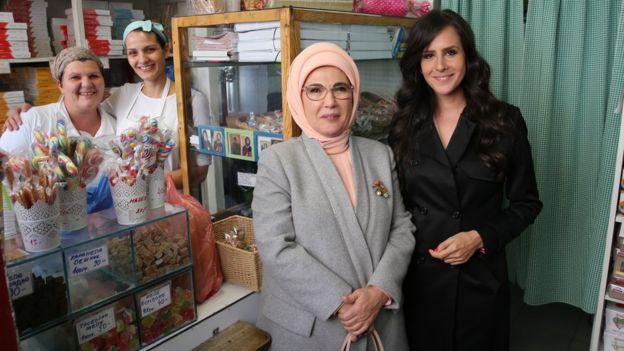 Tamara Vučić sa prvom damom Turske Eminom Erdogan