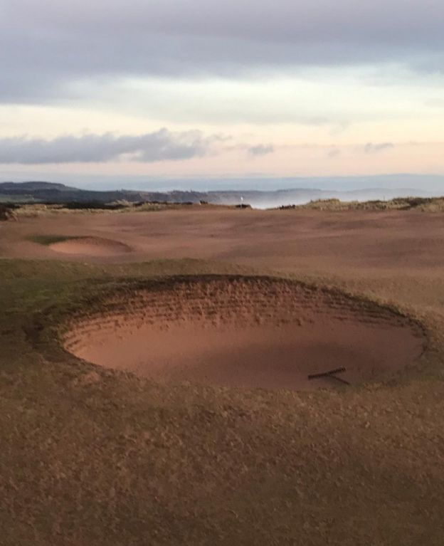 Sand on links course