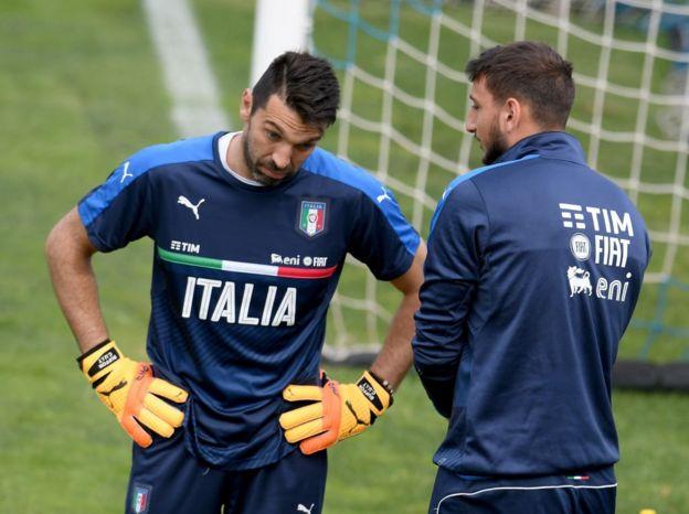 Buffon y Donnaruma