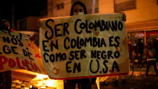 Protestas en Bogota