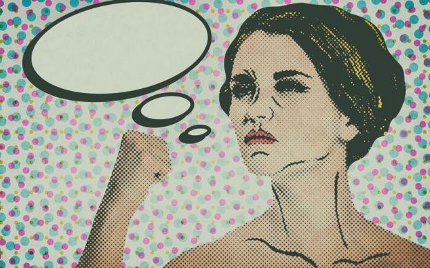 Ilustración de una mujer.