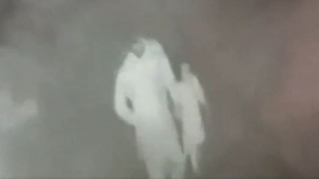 CCTV footage showing a man leading Zainab away before she died