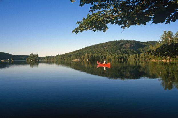 Озеро Норт-Понд в штате Мэн