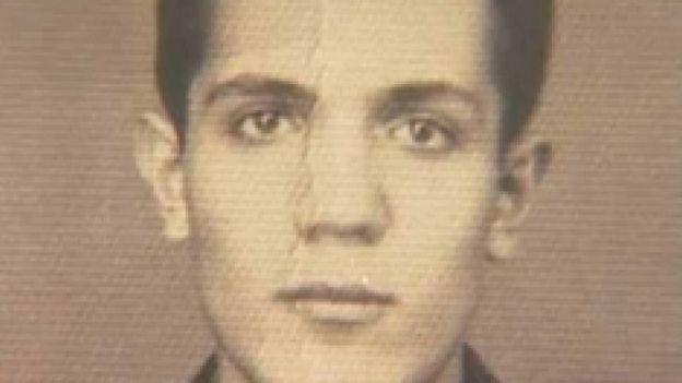 Retrato do rosto do jovem italiano Libero Castiglia, o Joca da guerrilha do Araguaia