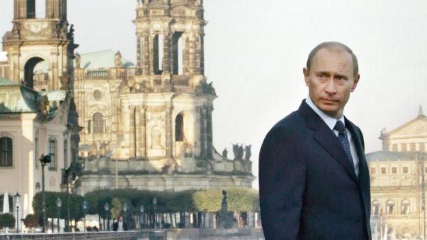 Путин в Дрездене в 2006 году