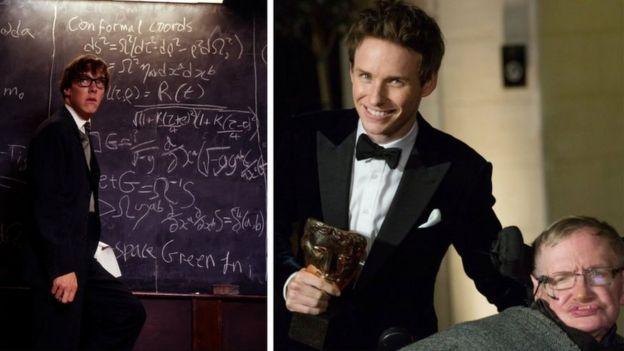 Benedict Cumberbatch y Stephen Hawking