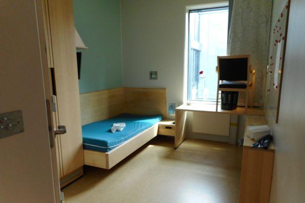 celda en la prisión de Halden