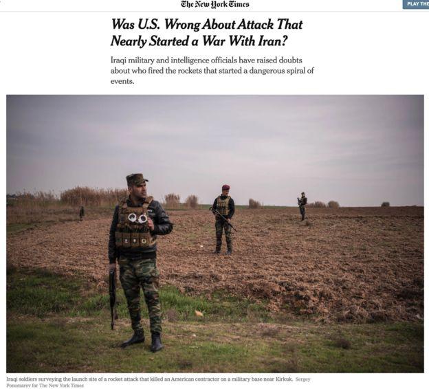 حمله راکتی به پایگاه کی-۱ کرکوک زمینه ساز تحولاتی شد که در نهایت با کشتن قاسم سلیمانی به اوج خود رسبد و ایران و آمریکا را تا مرز درگیری نظامی همه جانبه پیش برد