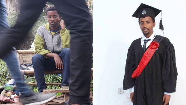 Ethiopian Chekol Menberu with a degree in chemical engineering
