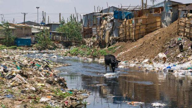 La contaminación por plástico es un problema global.