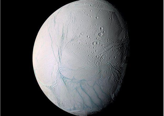 Enceladus in false colour
