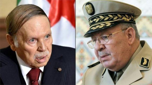 الرئيس بوتفليقة ورئيس أركان الجيش القايد صالح