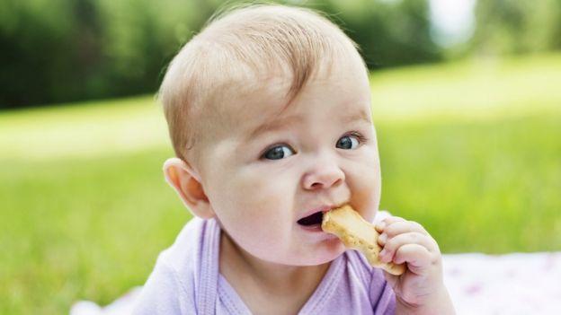 Niño comiendo galleta