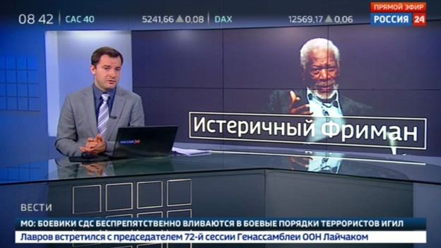 Rossiya 24 dubs Morgan Freeman 'hysterical'