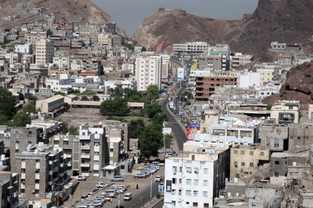 General view of downtown Aden, Yemen (31 October 2019)