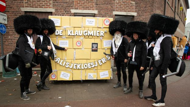Aalst carnival satire of Jews and Western Wall