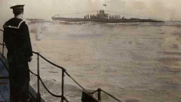 U-boat in Harwich