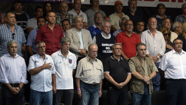 Sindicalistas argentinos