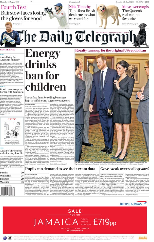The Daily Telegraph Thursday