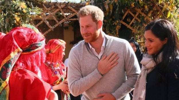 "The Duke and Duchess of Sussex visit the ""Education For All"" boarding house for girls aged 12 to 18 in Morrocco"