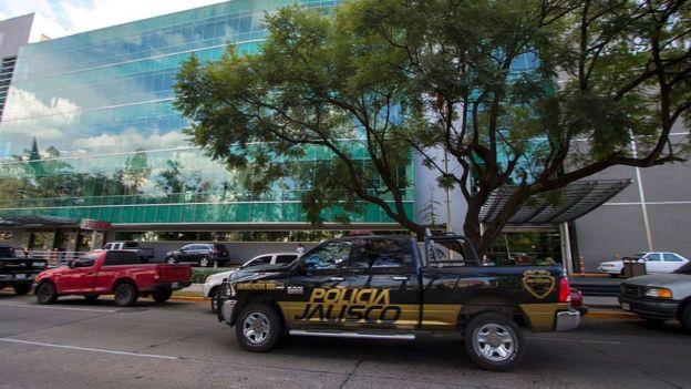 Una patrulla de policía en Guadalajara, Jalisco.