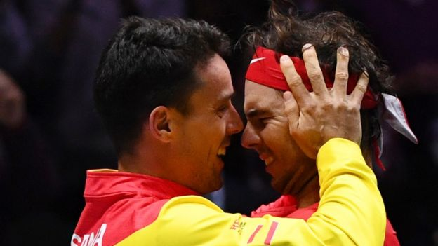 Roberto Bautista Agut y Rafael Nadal