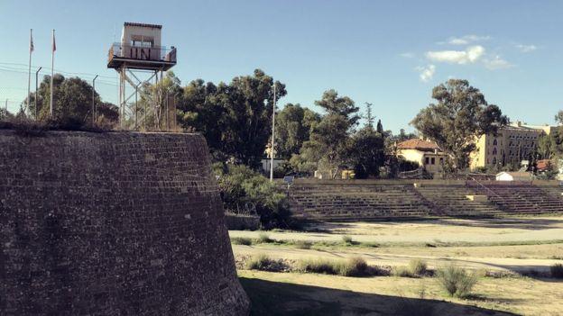 Torreón de la ONU en la Buffer Zone de Nicosia