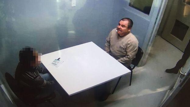 Guzmán en la cárcel de Nueva York