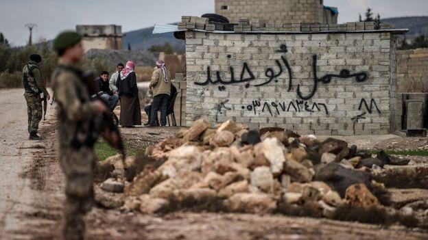 Afrin yakınlarındaki ÖSO güçleri