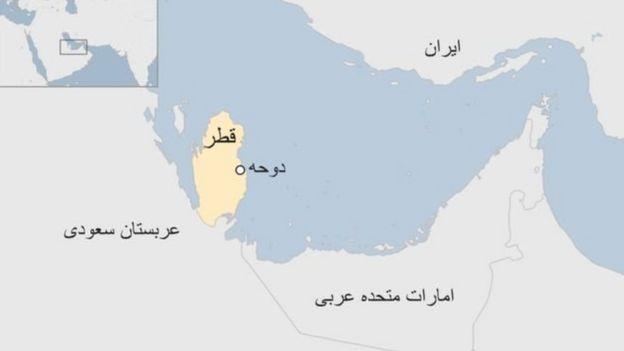 نقشه قطر در خلیج فارس