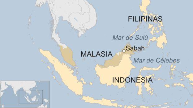 Mapa del Sureste Asiático