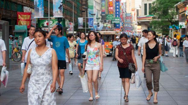 上海的购物者
