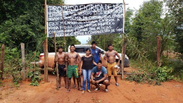Indigenous roadblock