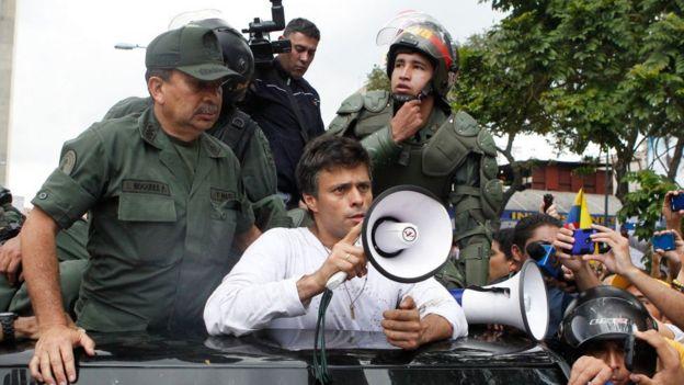 Leopoldo López arrestado