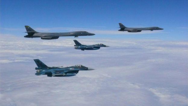 امریکی بمبار طیارے