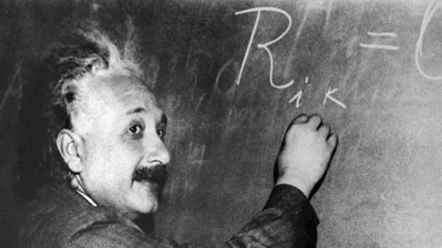 Einstein, en una imagen de Princeton en 1955.