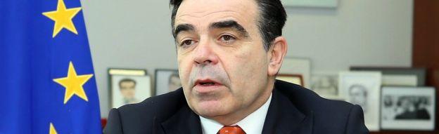 Margaritis Schinas, Spokesman of the European Commission, in Brussels, Belgium