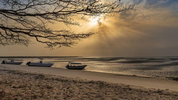 A beach in Guinea-Bissau