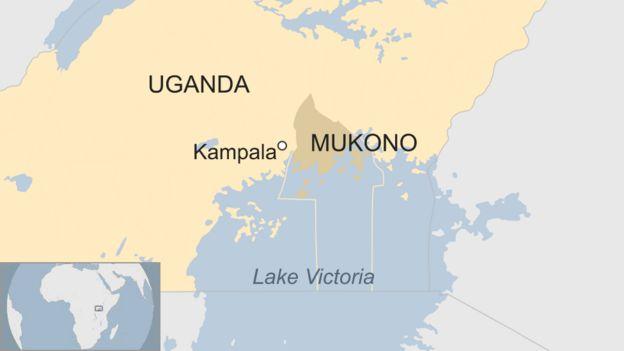 Map UGANDA BOAT ACCIDENT
