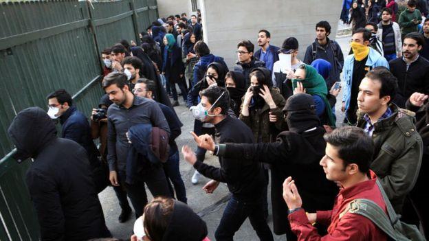 درگیری دانشگاه تهران
