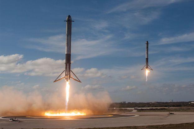 Falcon Heavy landing