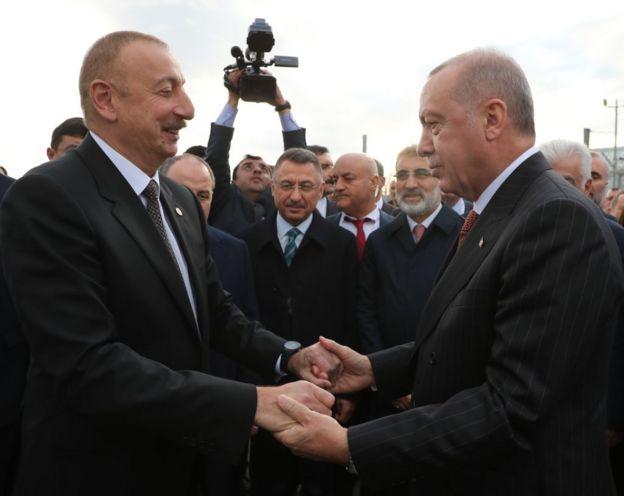 Törene Azerbaycan Devlet Başkanı İlham Aliyev de katıldı