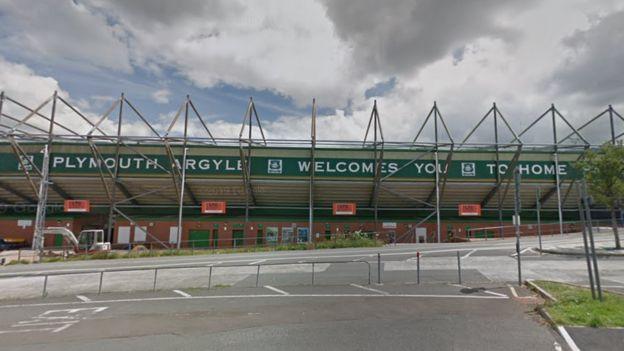 Home Park stadium at Plymouth Argyle