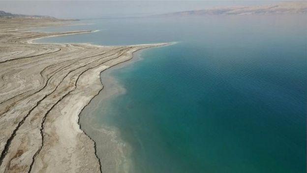 Imagen de la costa del Mar Muerto.