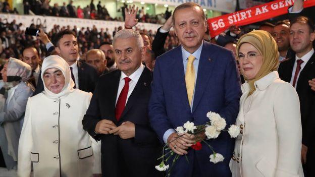 Başbakan Binali Yıldırım, Cumrhubaşkanı Recep Tayyip Erdoğan ve eşleri